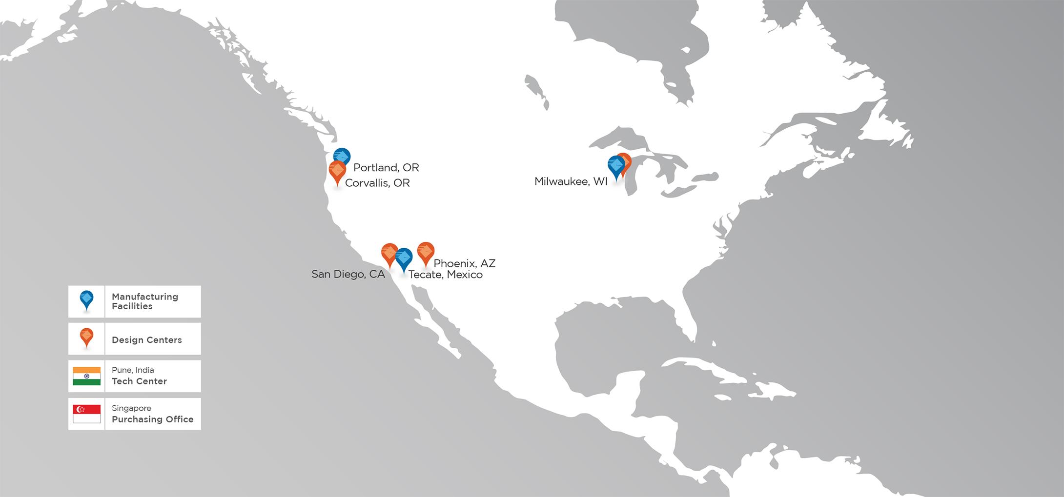 Milwaukee Electronics Milwauke Electonics Contact Us - Milwaukee on us map